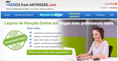 Leçons de français sur Skype